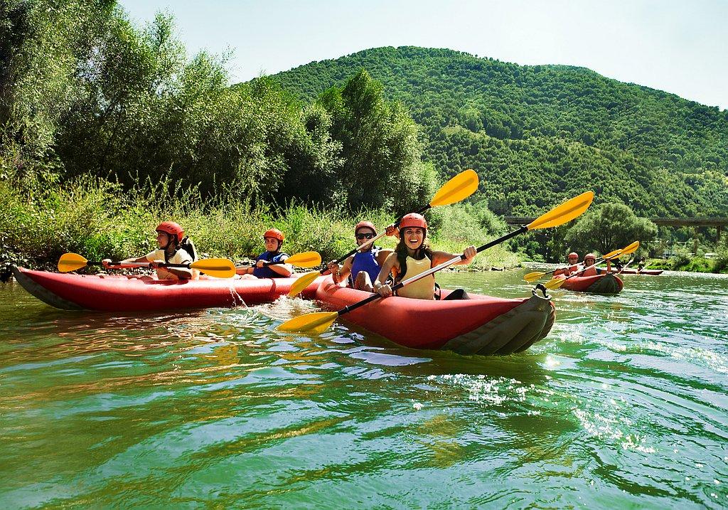 Team event canoe trip