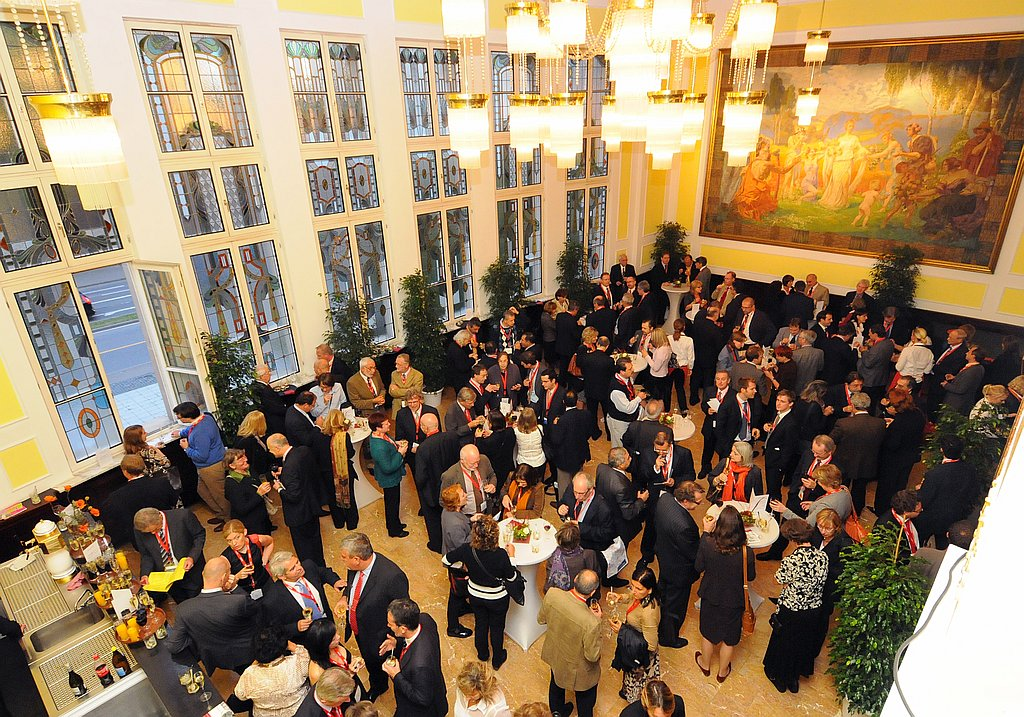 Company event in a noble ambience