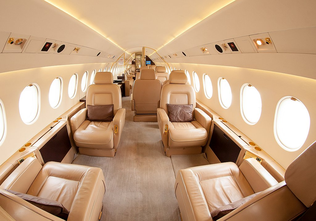 VIP travelling an board of a private jet