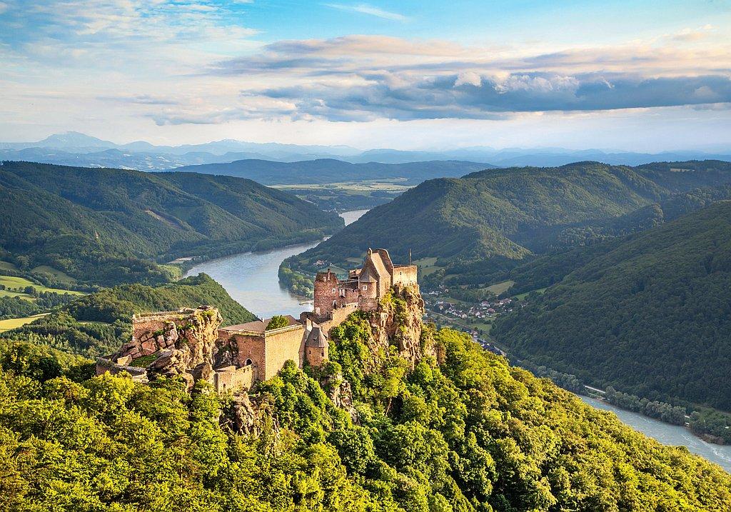 Danube river valley in the Wachau region, Austria